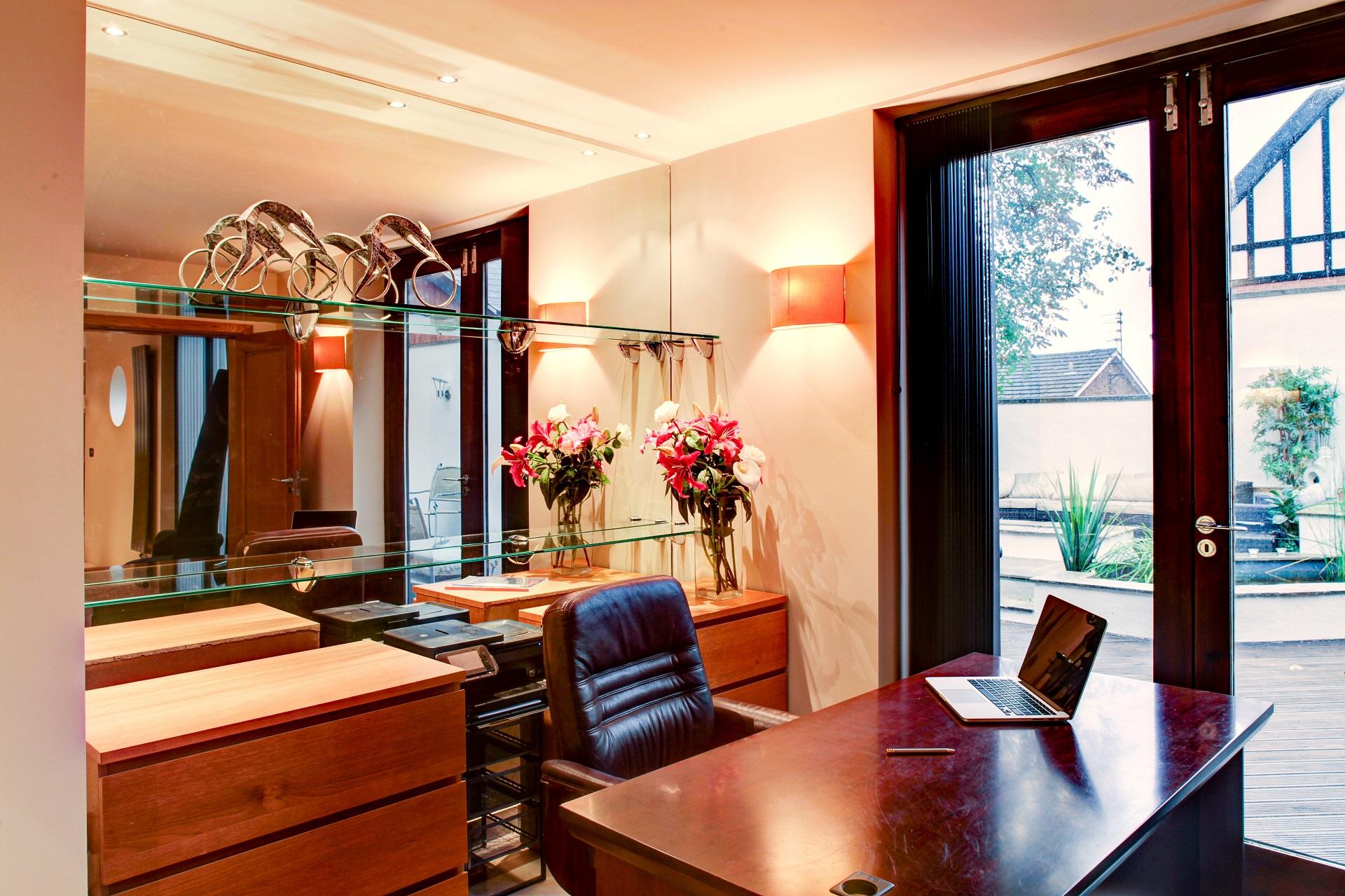 home office, interior design at cedar heights nottingham