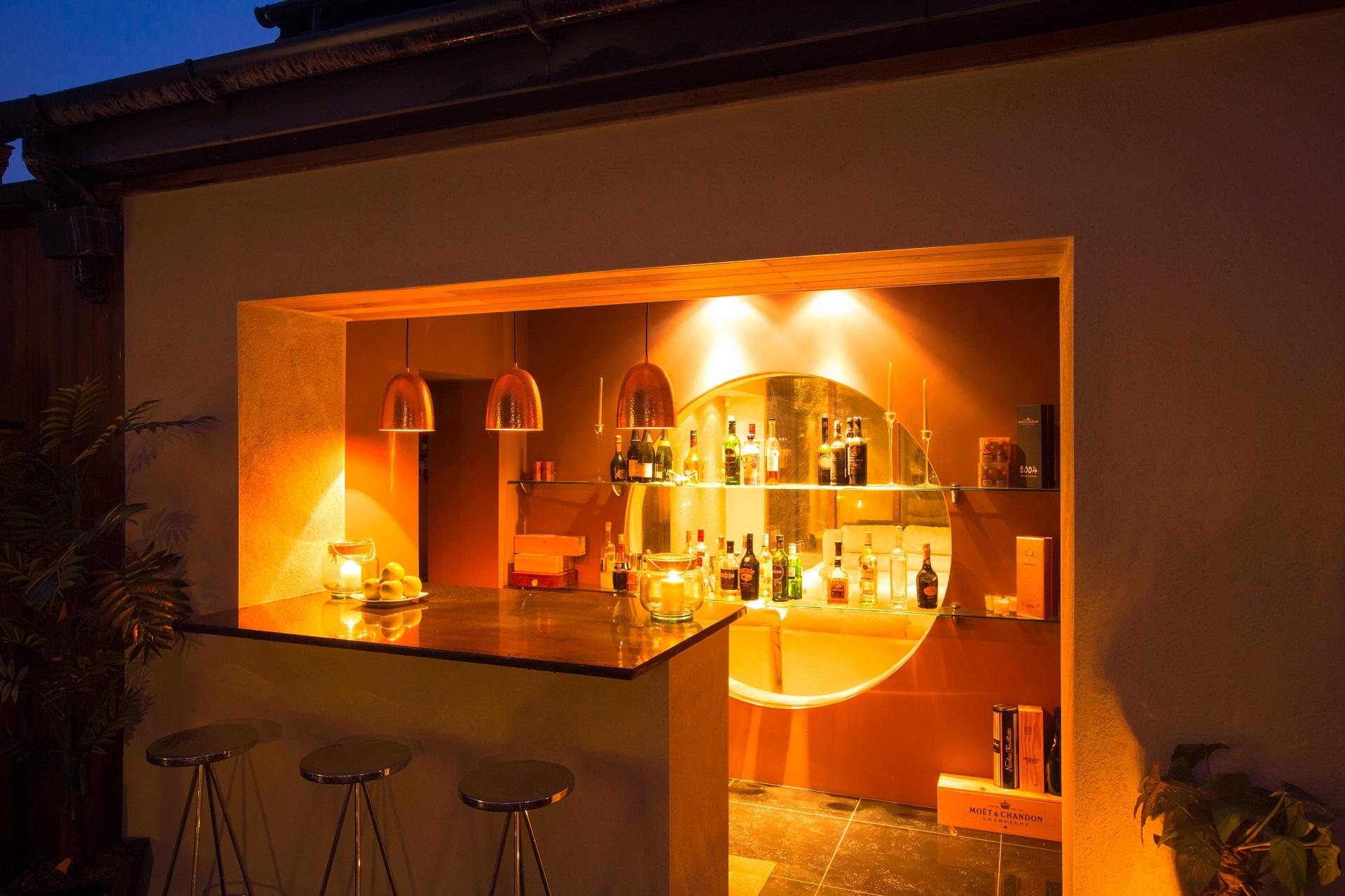 outdoor bar, luxury home, nottingham, cedar heights,