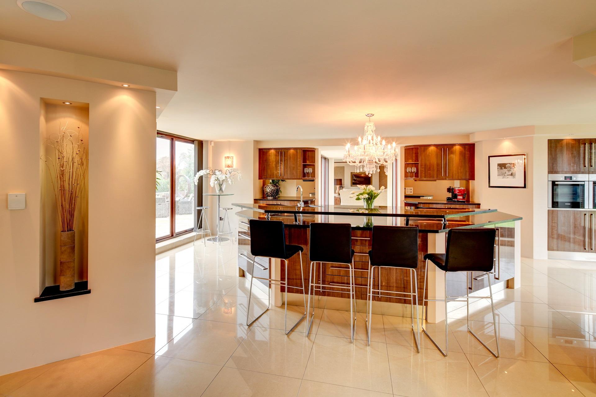 fern hill, nottingham, luxury kitchen, breakfast bar