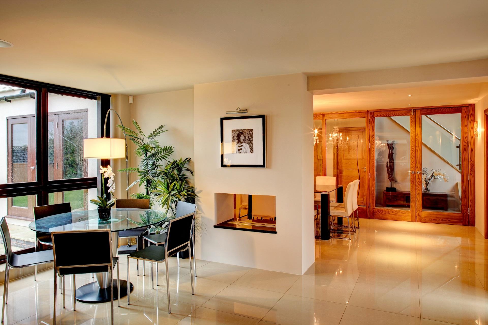 luxury design at fern hill nottingham, Interior design, dining room, open plan kitchen