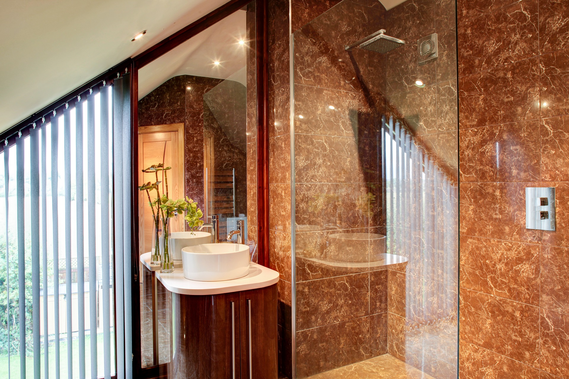 marble shower room, en suite, luxury interiors, fernhill nottingham