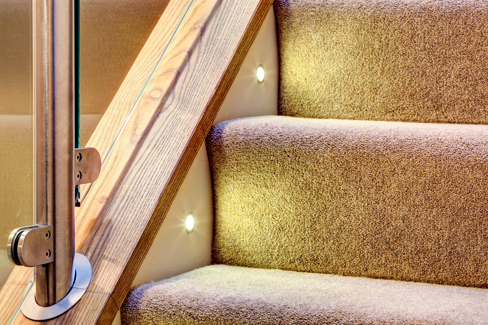 luxury pile carpet, staircase, interior design, nottingham