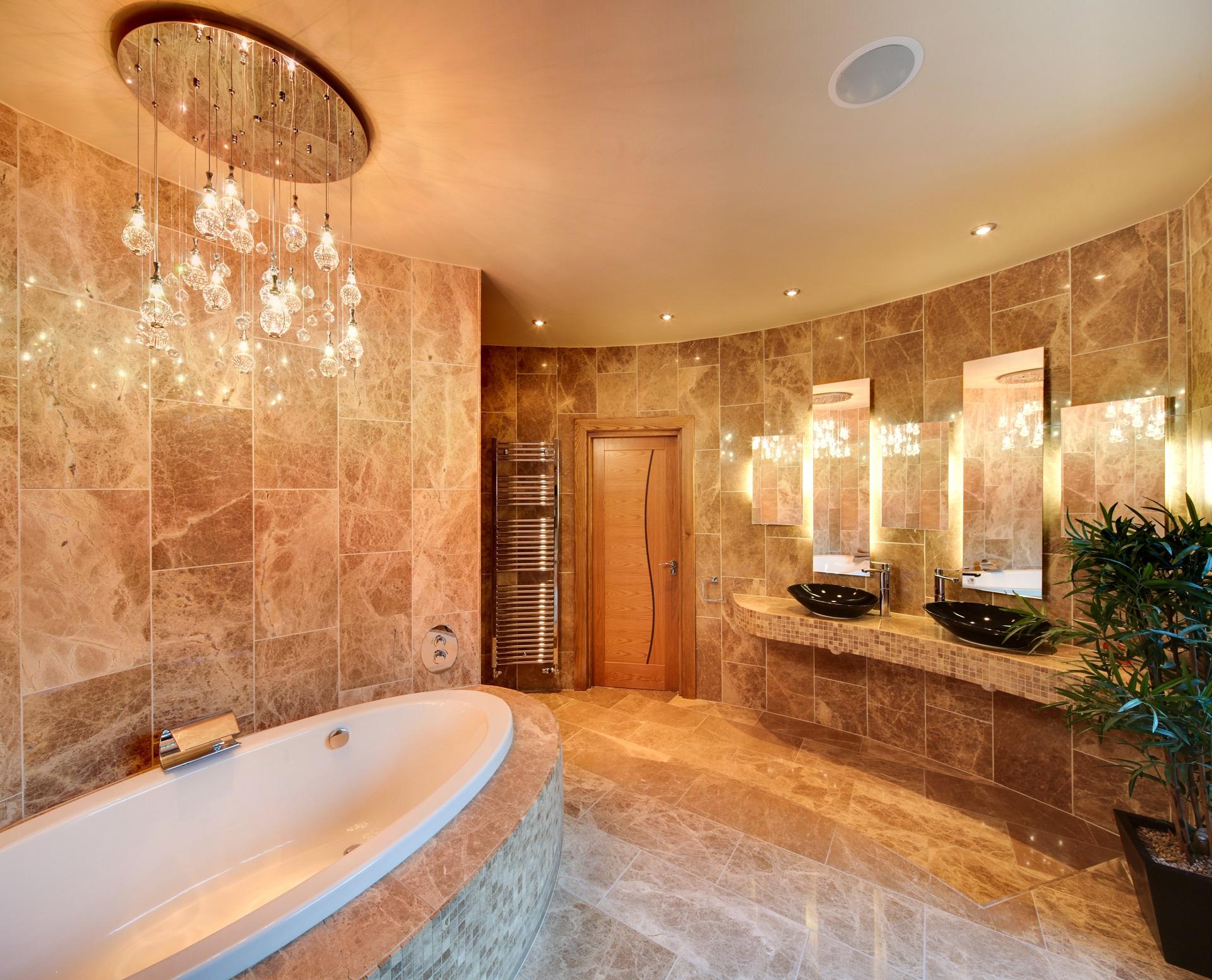 Hall view by Guy Phoenix, luxury bathroom