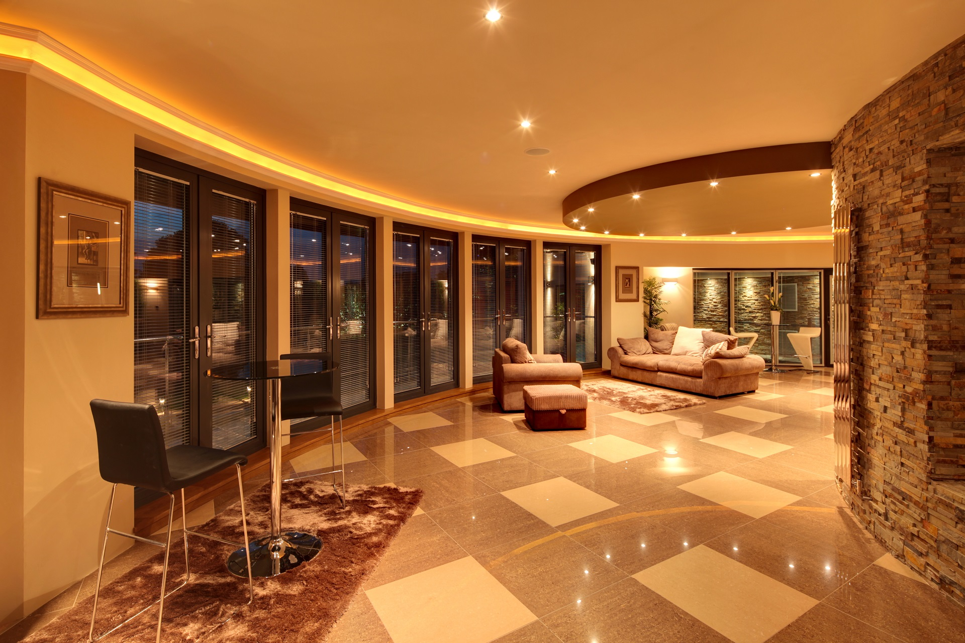 curved luxurious living space, Hall View by Guy Phoenix