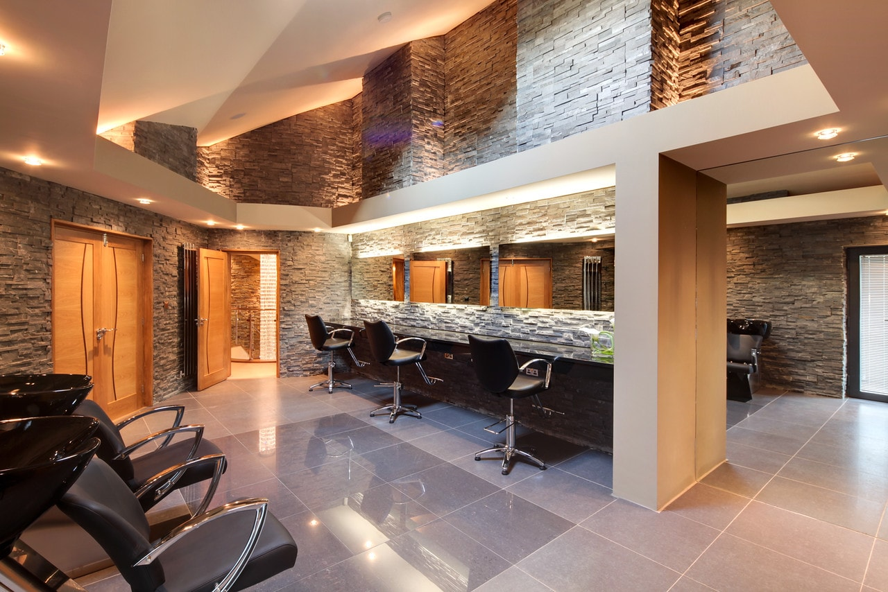 Home beauty salon in bespoke home, Hall View by Guy Phoenix
