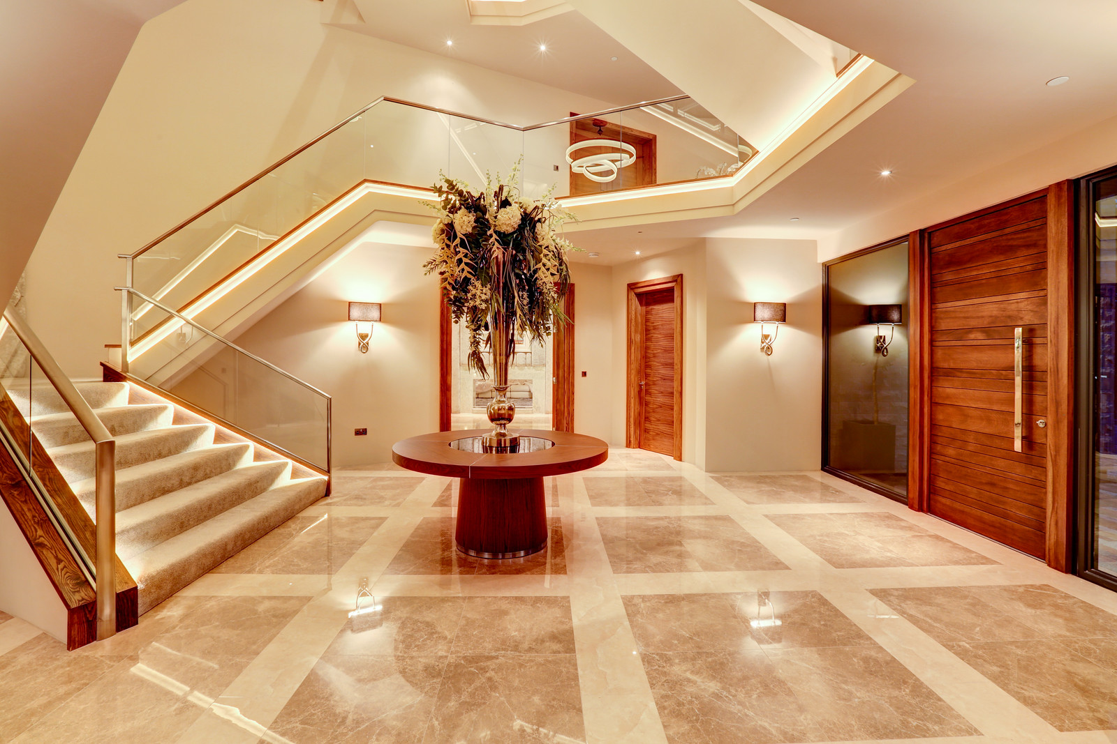 Tanglewood, breathtaking entrance leading to imperial staircase