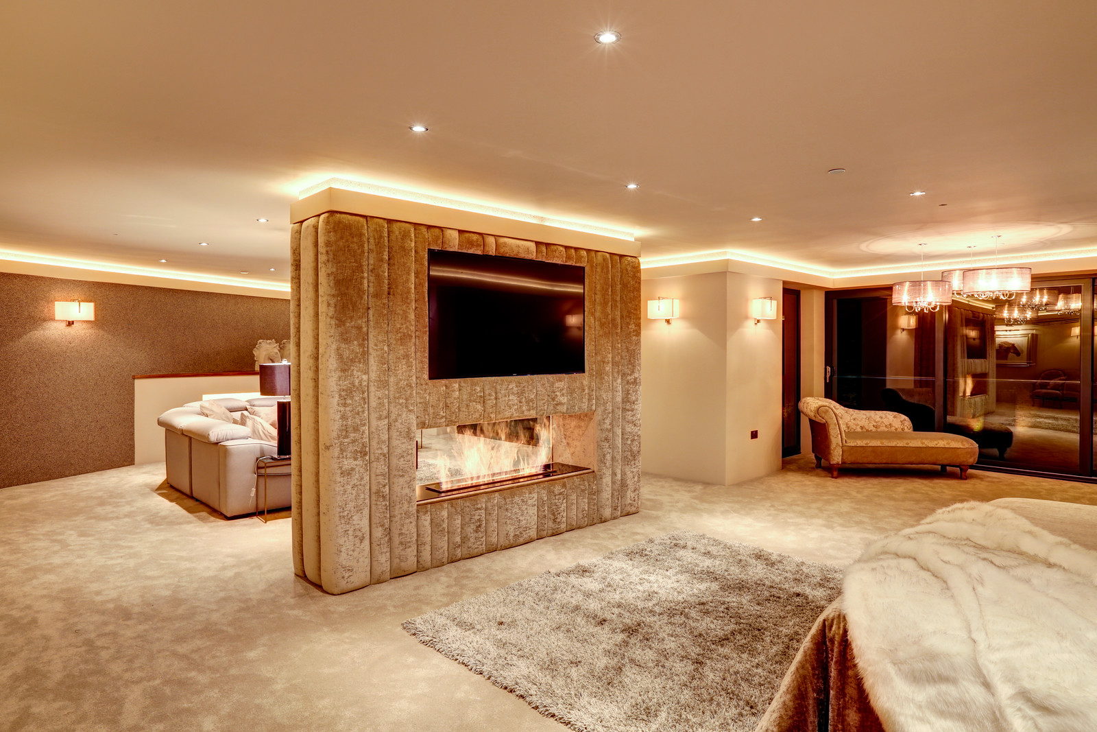 Master Suite, Tanglewood. Luxury home in colston Bassett by Guy Phoenix