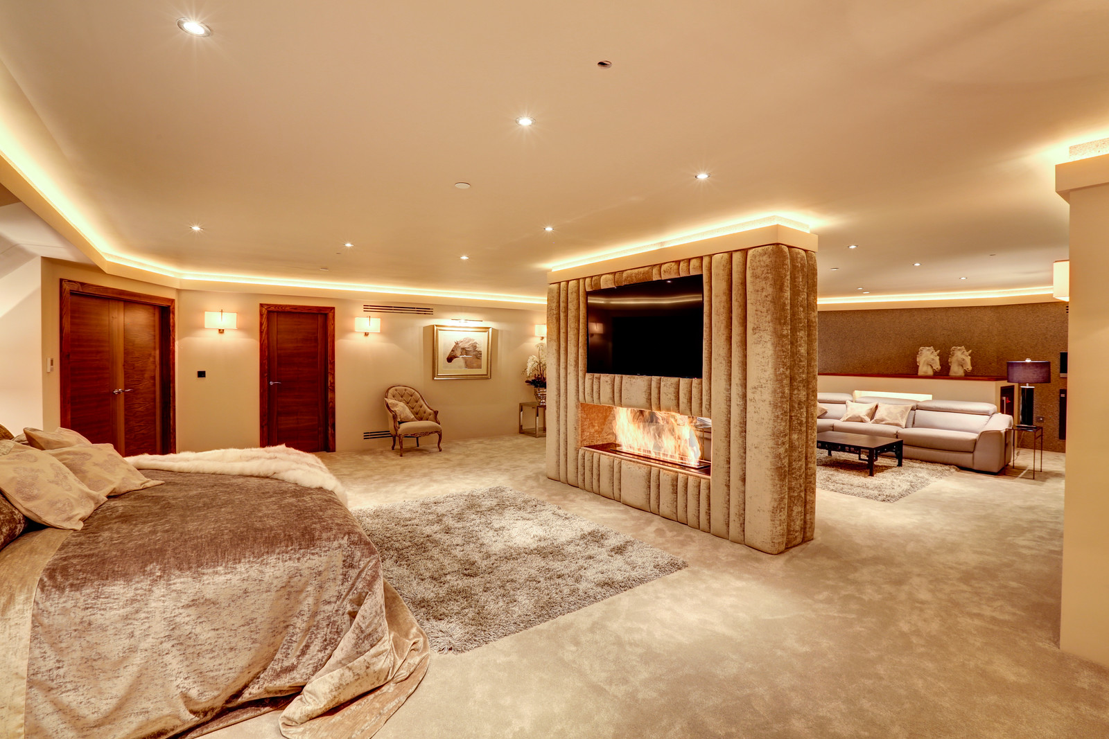 Master suite in Tanglewood, luxury home by Guy Phoenix in Colston Bassett, Nottinghamshire