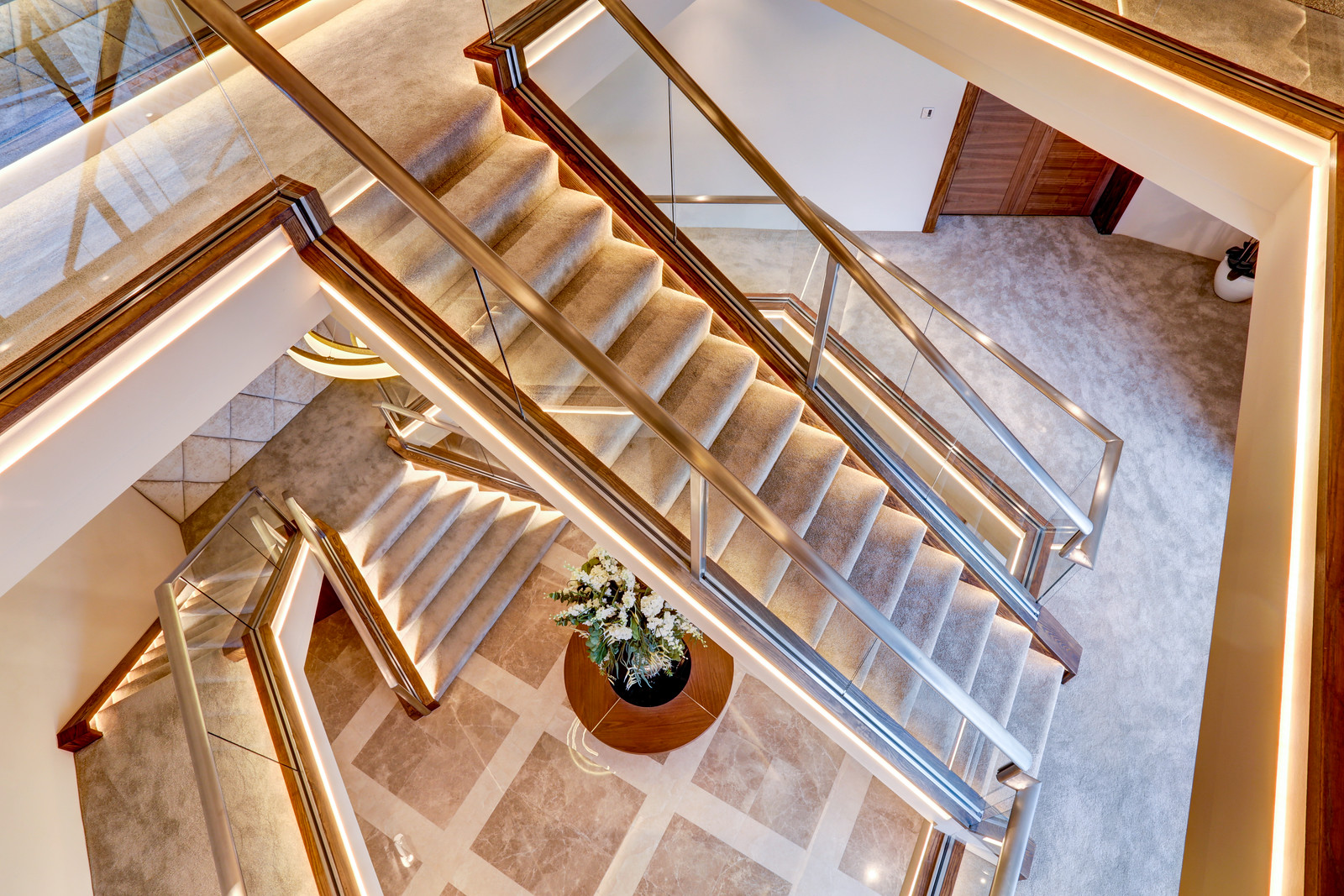 Tanglewood, Colston Bassett, Luxury home staircase