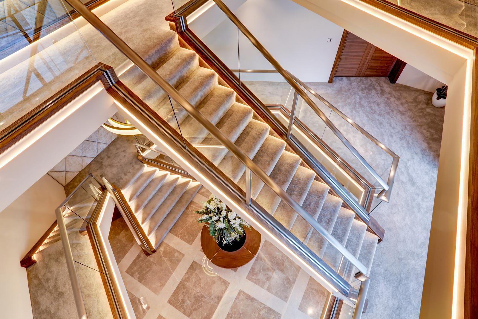 Tanglewood, Colston Bassett, Luxury home staircase