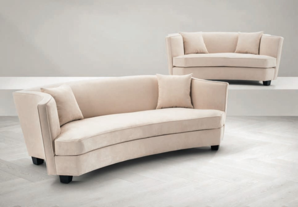 Eichholtz curved sofa in cream