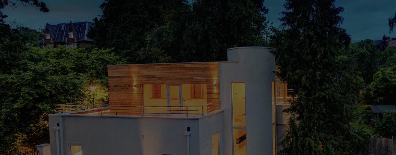 Luxury home shot at dusk in Nottingham
