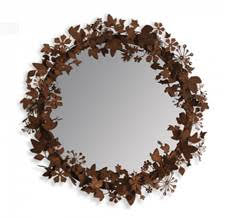 ivy and gold decorative mirror