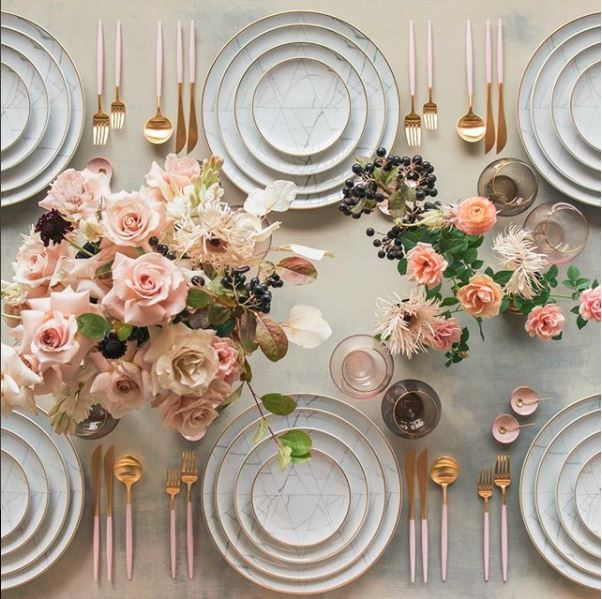 table wedding dinnerware