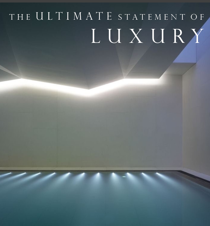 The swimming pool is still the ultimate statement of luxury.